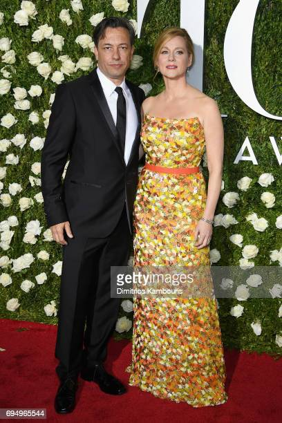 Marc Schauer and Laura Linney attend the 2017 Tony Awards at Radio City Music Hall on June 11 2017 in New York City
