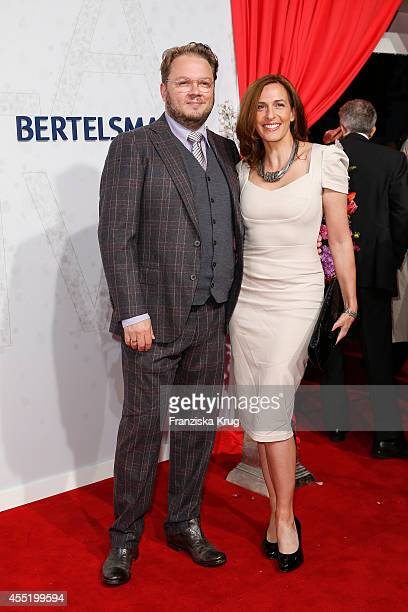 Marc Schubring and Ulrike Frank attend the Bertelsmann Summer Party at the Bertelsmann representative office on September 10 2014 in Berlin Germany