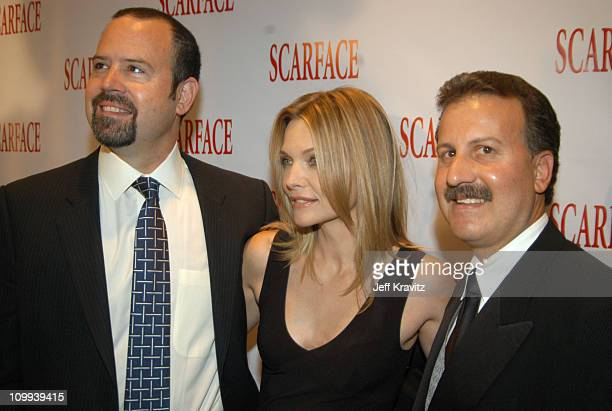 Marc Shmuger vice chairman of Universal Pictures Michelle Pfeiffer and Craig Kornblau president of Universal Studios Home Video