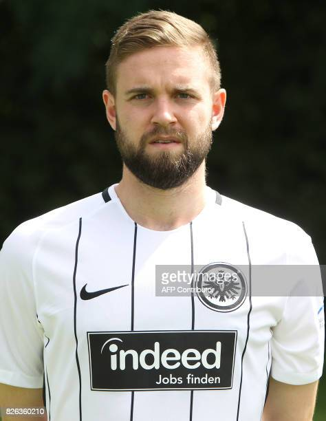 Marc Stendera from German first division Bundesliga football team Eintracht Frankfurt poses for a photo in Frankfurt Germany on August 4 2017 / AFP...