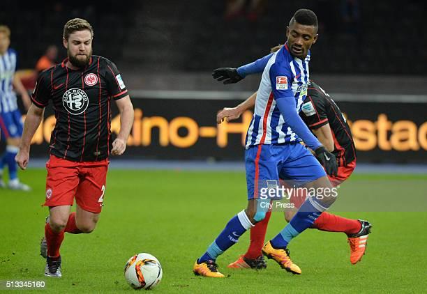 Marc Stendera of Eintracht Frankfurt and Salomon Kalou of Hertha BSC during the game between Hertha BSC and Eintracht Frankfurt on march 2 2016 in...