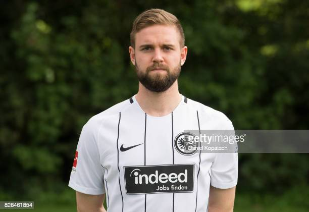 Marc Stendera of Eintracht Frankfurt poses during the team presentation at on August 4 2017 in Frankfurt am Main Germany
