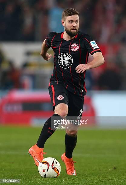 Marc Stendera of Frankfurt controles the ball during the Bundesliga match between 1 FC Koeln and Eintracht Frankfurt at RheinEnergieStadion on...