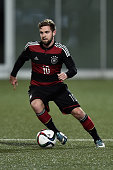 Marc Stendera of Germany controls the ball during the 2017 UEFA European U21 Championships Qualifier between U21 Faroe Islands and U21 Germany at...