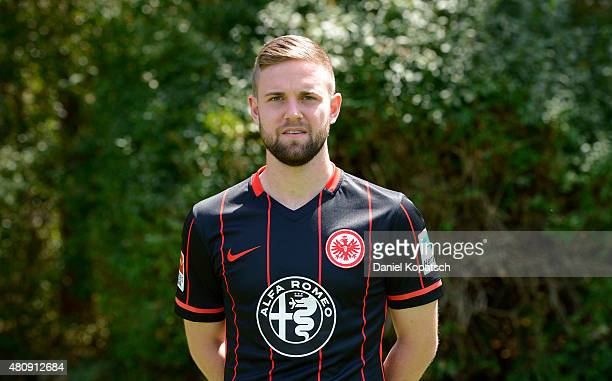 Marc Stendera poses during the Eintracht Frankfurt team presentation on July 15 2015 in Frankfurt am Main Germany