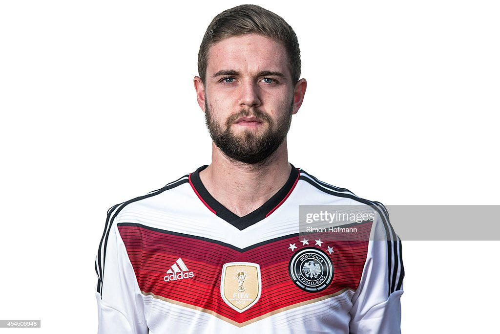 Marc Stenera poses during the team presentation of U20 Germany at Waldstadion on September 2, 2014 in Homburg, Germany.
