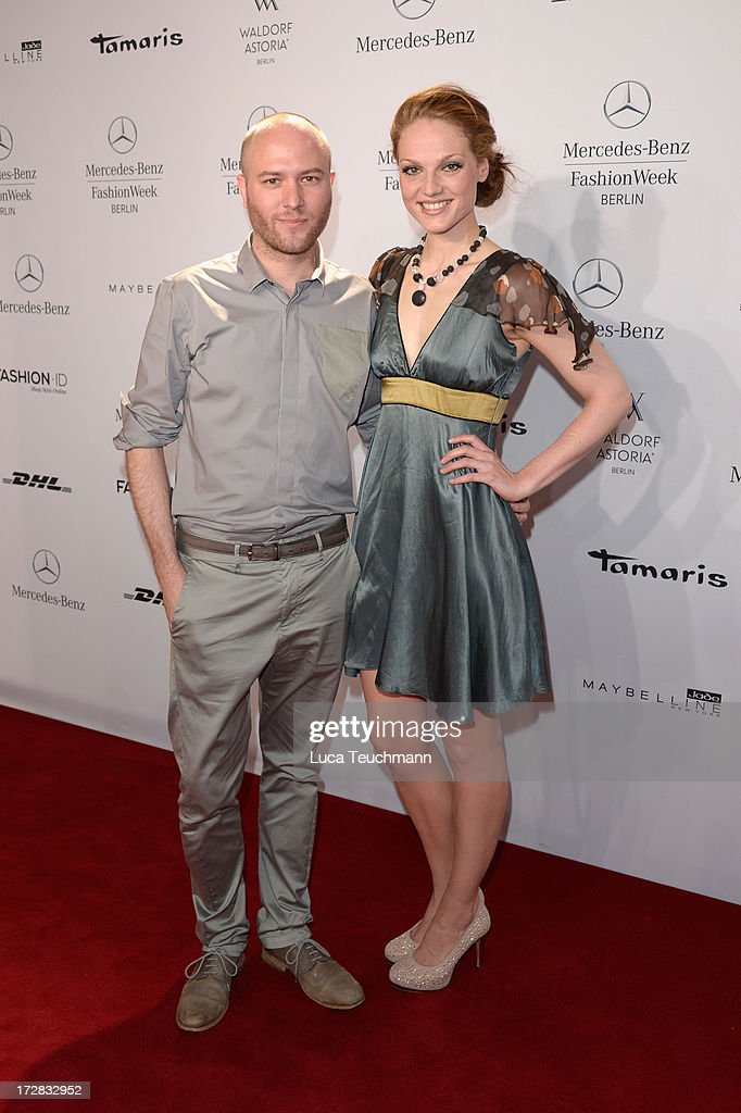 Marc Stone and Isabella Vinet attend the Umasan Show during Mercedes-Benz Fashion Week Spring/Summer 2014 at Brandenburg Gate on July 5, 2013 in Berlin, Germany.