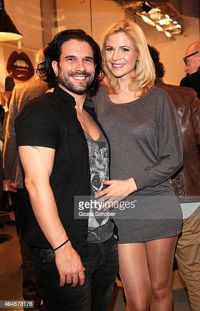 Marc Terenzi and his girlfriend Myriel Brechtel during the Pre Opening Event Exhibition Insights by Mayk Azzato presented by KARE Kraftwerk on...