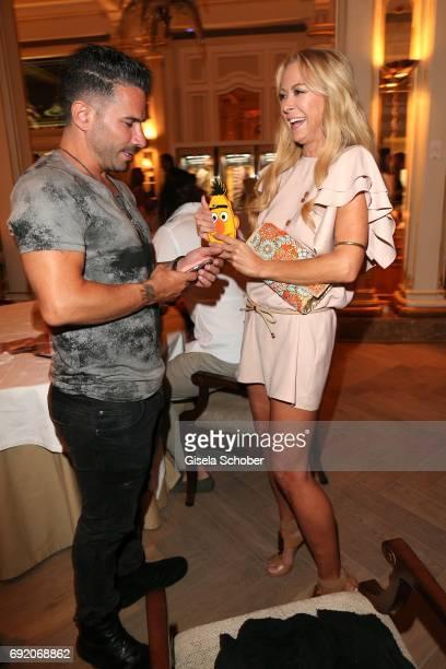 Marc Terenzi and Jenny Elvers during the Zhero hotel and 'Bahia Mediterraneo' restaurant opening on June 3 2017 in Palma de Mallorca Spain