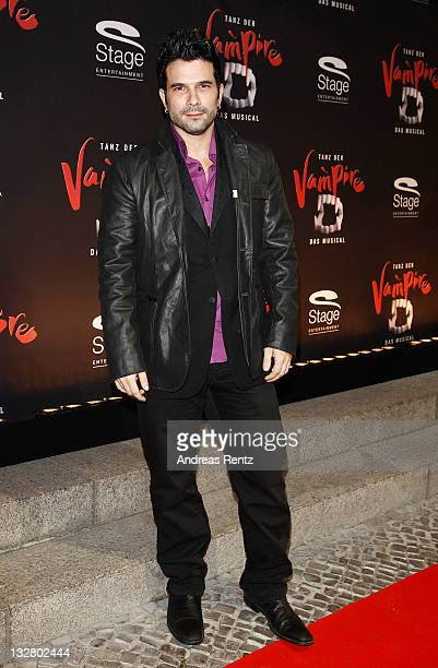 Marc Terenzi arrives for the Berlin musical premiere Tanz der Vampire at Theater des Westens on November 14 2011 in Berlin Germany