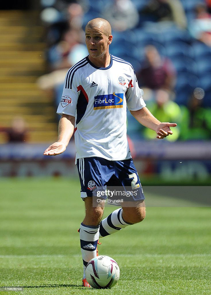 Marc Tierney of Bolton Wanderers in action during the Sky Bet Championship match between Burnley and Bolton Wanderers at Turf Moor on August 03, 2013 in Burnley, England.