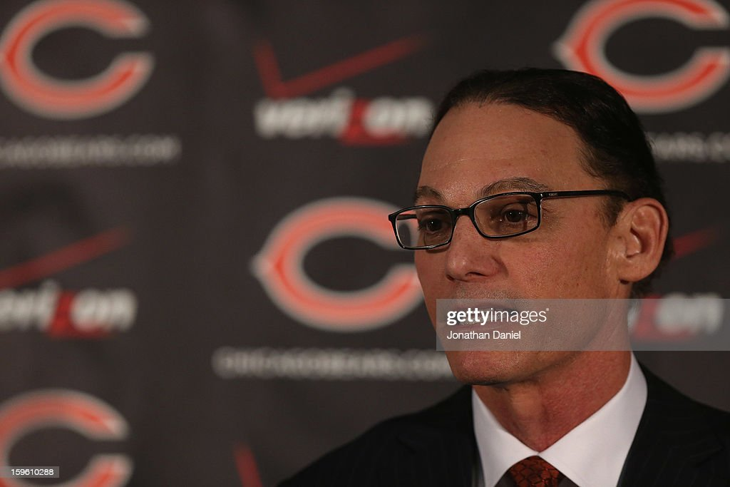 Marc Trestman is introducted as the new head coach of the Chicago Bears at Halas Hall on January 17, 2013 in Lake Forest, Illinois.