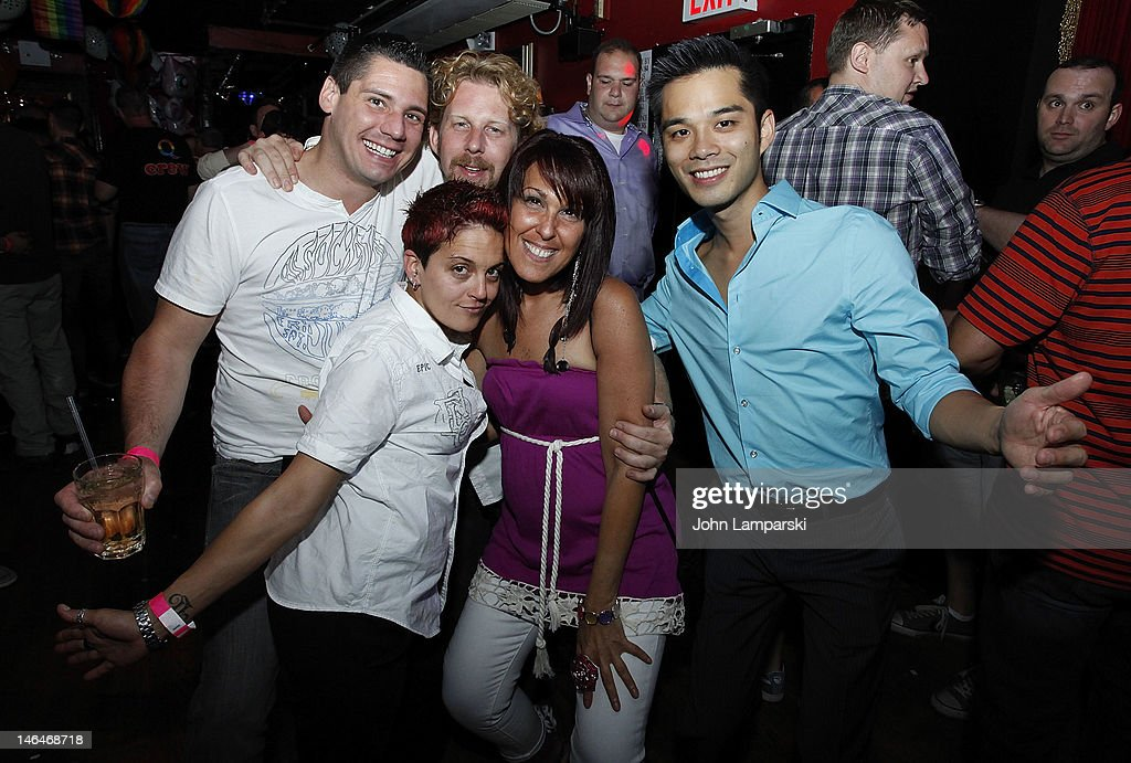 Marc Valitutto , Alex Carr and guests attend Alex Carr's birthday celebration at The Stonewall Inn on June 16, 2012 in New York City.