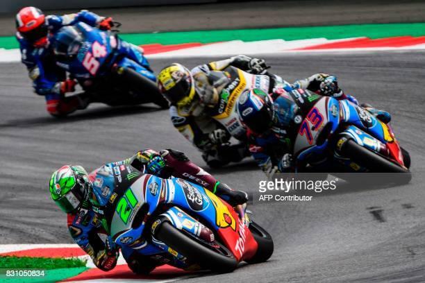EG 00 Marc VDS' Italian rider Franco Morbidelli EG 00 Marc VDS' Spanish rider Alex Marquez CarXpert Interwetten's Swiss rider Thomas Luthi and...