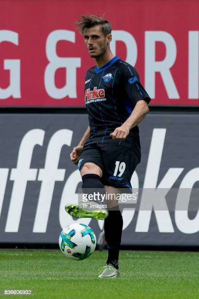 Marc Vucinovic of Paderborn controls the ball during the preseason friendly match between SC Paderborn and FC Schalke 04 at BentelerArena on July 15...