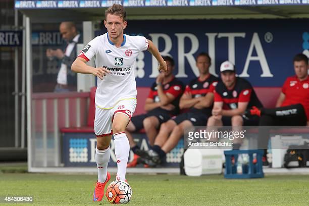 Marc Wachs of Mainz during the Third league match between SV Wehen Wiesbaden and 1 FSV Mainz 05 II at BRITAArena on August 15 2015 in Wiesbaden...