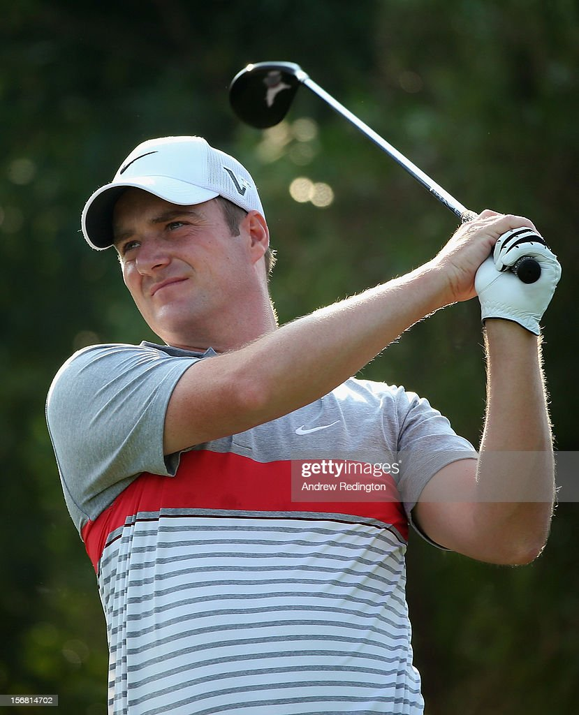 Marc Warren of Scotland in action during the first round of the DP World Tour Championship on the Earth Course at Jumeirah Golf Estates on November 22, 2012 in Dubai, United Arab Emirates.