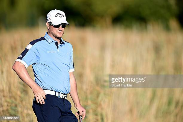 Marc Warren of Scotland looks on during day one of the Portugal Masters at Victoria Clube de Golfe on October 20 2016 in Vilamoura Portugal