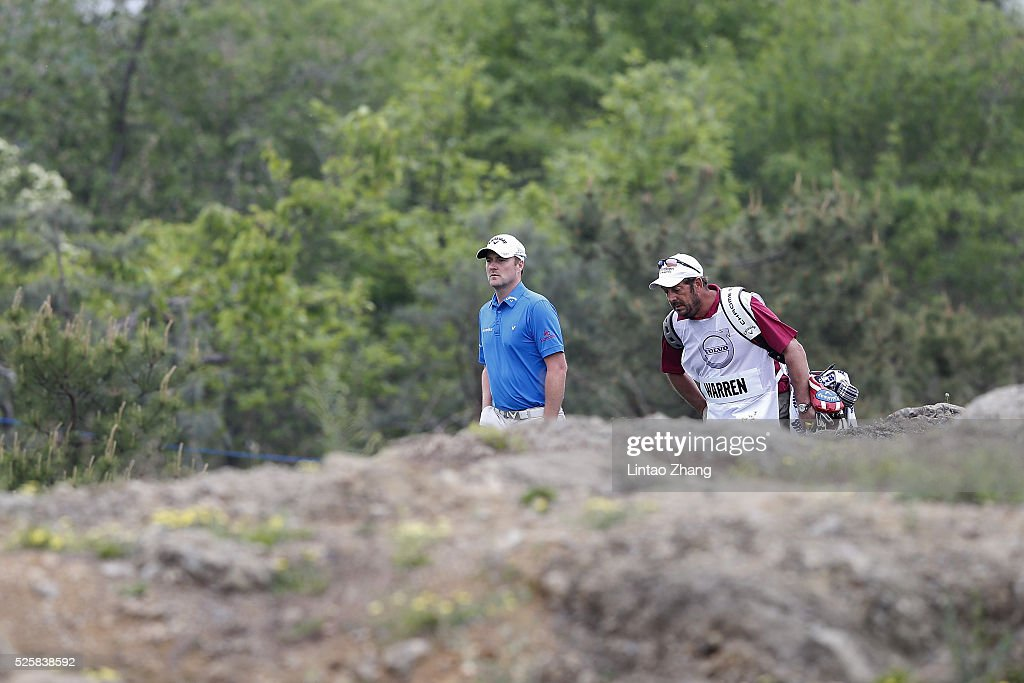 <a gi-track='captionPersonalityLinkClicked' href=/galleries/search?phrase=Marc+Warren+-+Golfer&family=editorial&specificpeople=12333476 ng-click='$event.stopPropagation()'>Marc Warren</a> of Scotland looks on during the second round of the Volvo China open at Topwin Golf and Country Club on April 28, 2016 in Beijing, China.