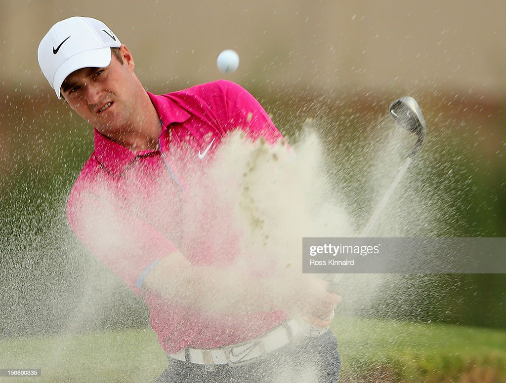 Marc Warren of Scotland on the 17th hole during the second round the DP World Tour Championship on the Earth Course at Jumeirah Golf Estates on November 23, 2012 in Dubai, United Arab Emirates...