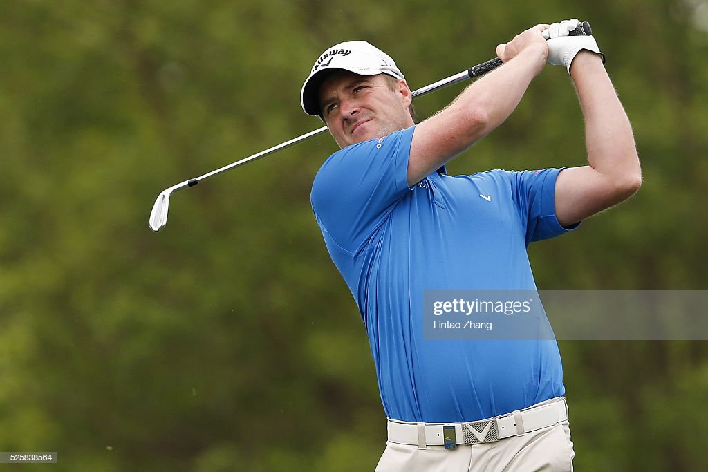 <a gi-track='captionPersonalityLinkClicked' href=/galleries/search?phrase=Marc+Warren+-+Golfer&family=editorial&specificpeople=12333476 ng-click='$event.stopPropagation()'>Marc Warren</a> of Scotland plays a shot during the second round of the Volvo China open at Topwin Golf and Country Club on April 28, 2016 in Beijing, China.