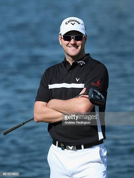 Marc Warren of Scotland poses for a portrait during the Pro Am prior to the start of the Abu Dhabi HSBC Golf Championship at the Abu Dhabi Golf Cub...