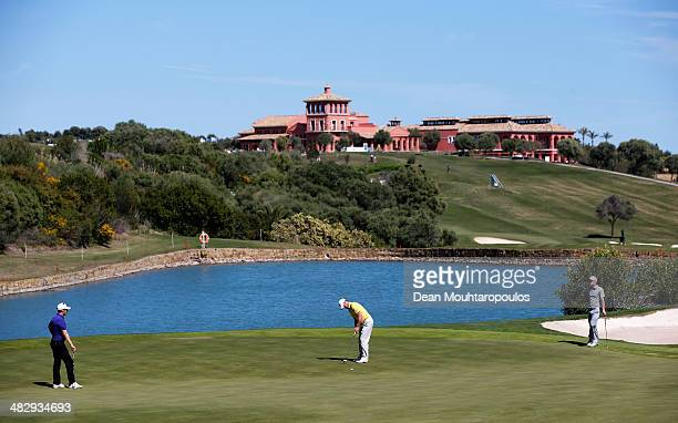 Marc Warren of Scotland putts on the 8th hole during day three of the NH Collection Open held at La Reserva de Sotogrande Club de Golf on April 5...