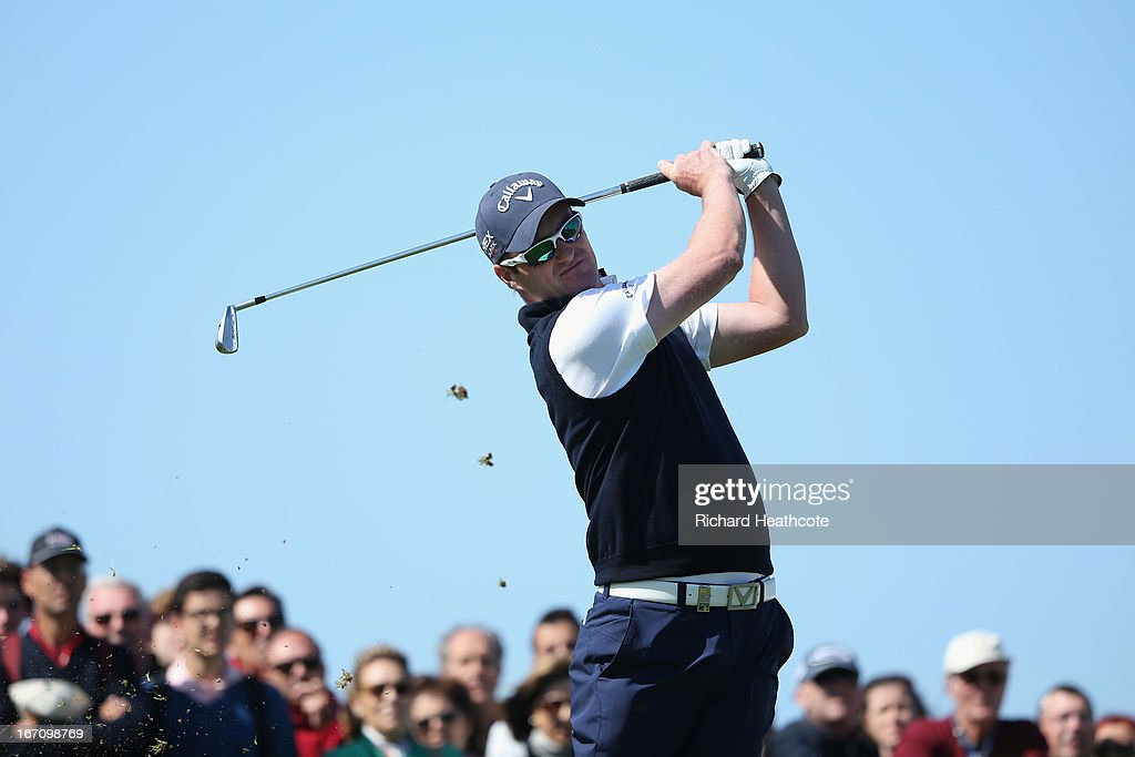Marc Warren of Scotland tee's off at the 16th during the Third round of the Open de Espana at Parador de El Saler on April 20 2013 in Valencia Spain