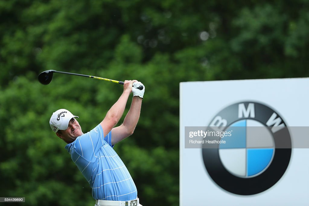 <a gi-track='captionPersonalityLinkClicked' href=/galleries/search?phrase=Marc+Warren+-+Golfer&family=editorial&specificpeople=12333476 ng-click='$event.stopPropagation()'>Marc Warren</a> of Scotland tees off on the 3rd hole during day one of the BMW PGA Championship at Wentworth on May 26, 2016 in Virginia Water, England.