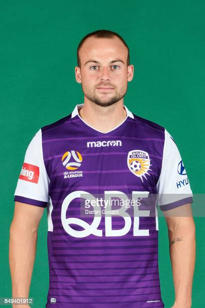 Marc Warren poses during the Perth Glory 2017/18 ALeague season headshots session on September 15 2017 in Perth Australia