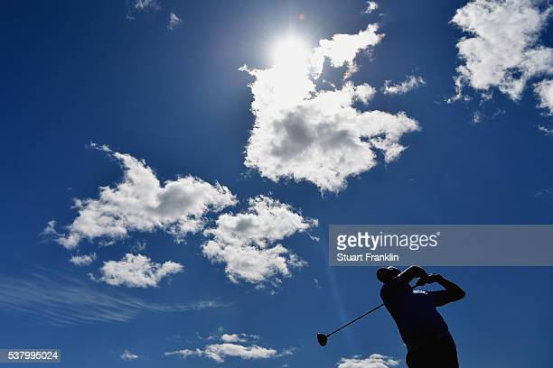 Marc Warren tees off during the third round on day three of The Nordea Masters at Bro Hof Slott Golf Club on June 4 2016 in Stockholm Sweden