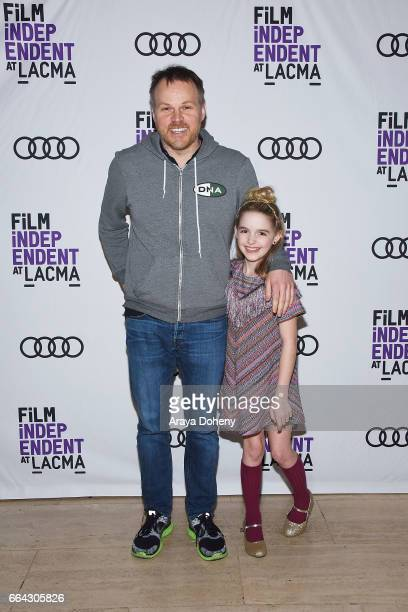 Marc Webb and Mckenna Grace attend the Film Independent at LACMA special screening of 'Gifted' at Bing Theatre At LACMA on April 3 2017 in Los...