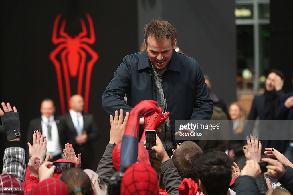 <a gi-track='captionPersonalityLinkClicked' href=/galleries/search?phrase=Marc+Webb&family=editorial&specificpeople=637083 ng-click='$event.stopPropagation()'>Marc Webb</a> attends the 'The Amazing Spider-Man 2: Rise Of Electro' Berlin Photocall at Sony Centre on April 15, 2014 in Berlin, Germany.