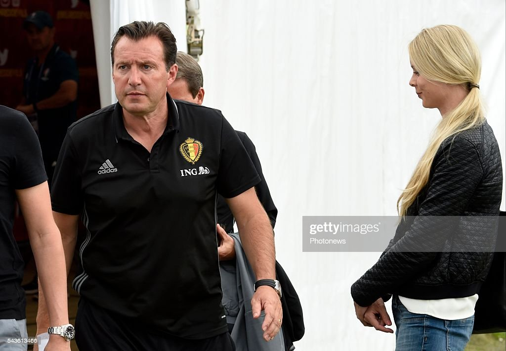 Marc Wilmots head coach of Belgian Team before a closed training session of the National Soccer Team of Belgium as part of the preparation prior to the UEFA EURO 2016 quarter final match between Wales and Belgium at the Chateau de Haillan training center on June 29, 2016 in Bordeaux, France ,