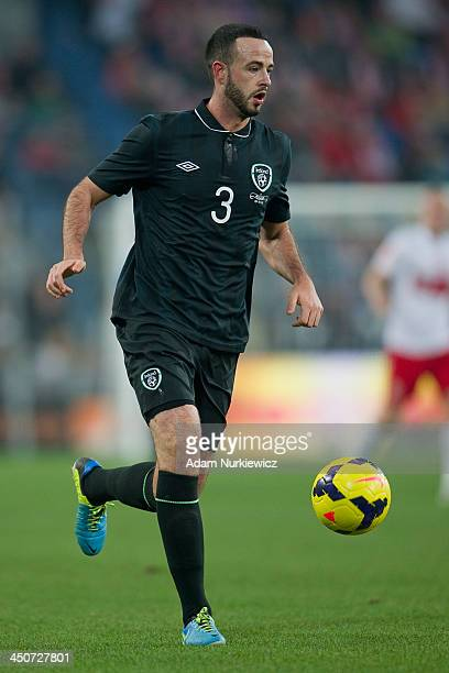 Marc Wilson of Ireland controls the ball during the International friendly match between Poland and Ireland at the Inea Stadium on November 19 2013...