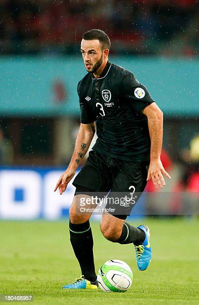 Marc Wilson of Ireland in action during the FIFA World Cup 2014 Group C qualification match between Austria and the Republic of Ireland at the Ernst...