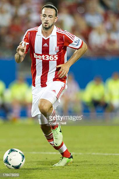 Marc Wilson of Stoke City controls the ball against FC Dallas on July 27 2013 at FC Dallas Stadium in Frisco Texas