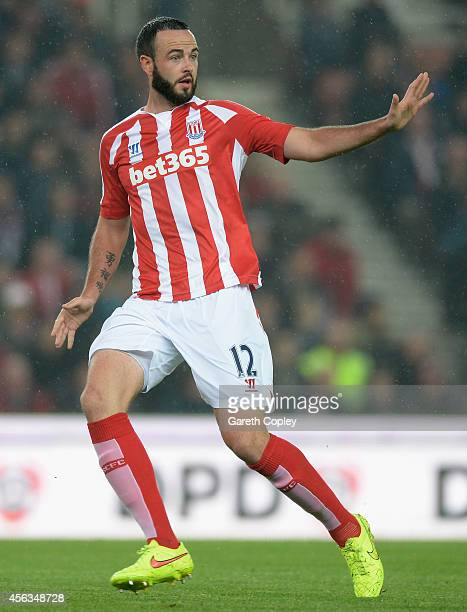 Marc Wilson of Stoke City during the Barclays Premier League match between Stoke City and Newcastle United at Britannia Stadium on September 29 2014...
