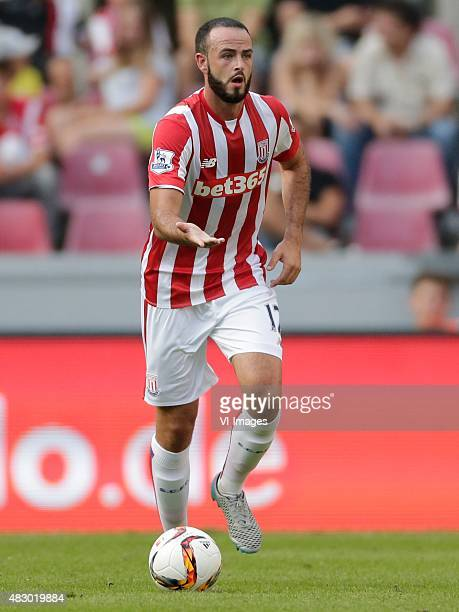 Marc Wilson of Stoke City during the Colonia Cup match between FC Porto and Stoke City on August 2 2015 at the RheinEnergieStadion in Koln Germany