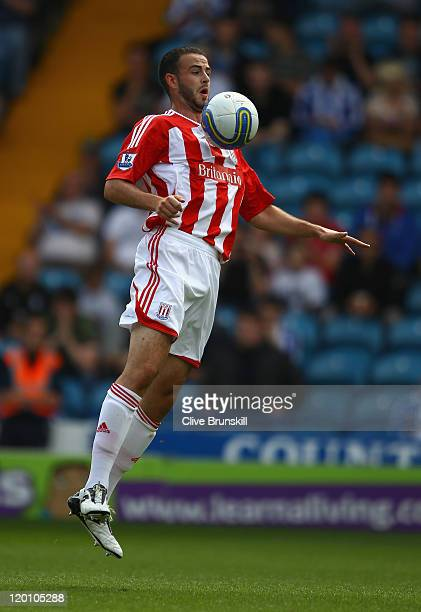 Marc Wilson of Stoke City in action during the pre season friendly match between Sheffield Wednesday and Stoke City at Hillsborough Stadium on July...