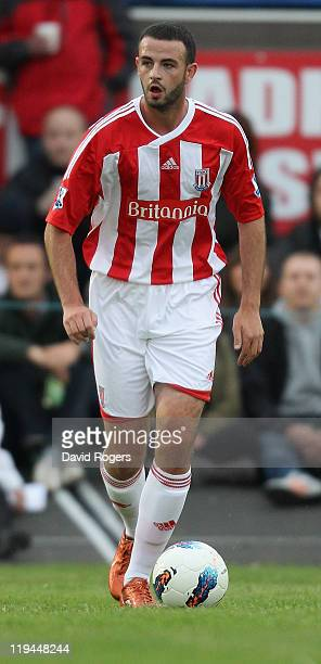Marc Wilson of Stoke City runs with the ball during the pre season friendly match between Newcastle Town and Stoke City on July 20 2011 in Newcastle...