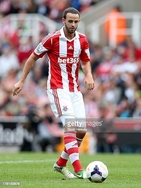 Marc Wilson of Stoke during a Pre Season Friendly between Stoke City and Genoa at Britannia Stadium on August 10 2013 in Stoke England
