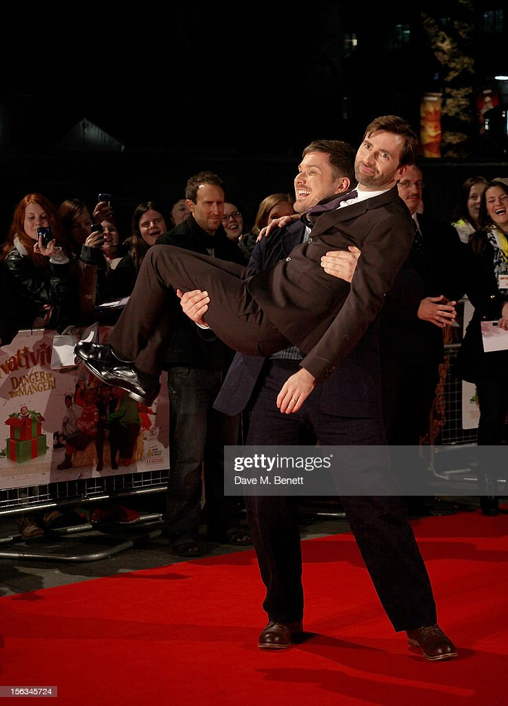<a gi-track='captionPersonalityLinkClicked' href=/galleries/search?phrase=Marc+Wootton&family=editorial&specificpeople=218191 ng-click='$event.stopPropagation()'>Marc Wootton</a> (L) and <a gi-track='captionPersonalityLinkClicked' href=/galleries/search?phrase=David+Tennant&family=editorial&specificpeople=220227 ng-click='$event.stopPropagation()'>David Tennant</a> attend the 'Nativity 2: Danger In The Manger' premiere at Empire Leicester Square on November 13, 2012 in London, England.