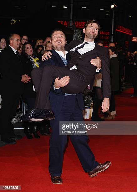 Marc Wotton and David Tennant attend the 'Nativity 2 Danger In The Manger' premiere at Empire Leicester Square on November 13 2012 in London England