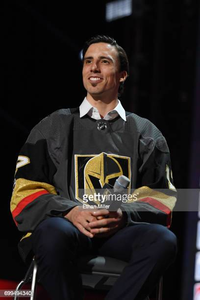 MarcAndre Fleury is interviewed after being selected by the Las Vegas Golden Knights during the 2017 NHL Awards and Expansion Draft at TMobile Arena...