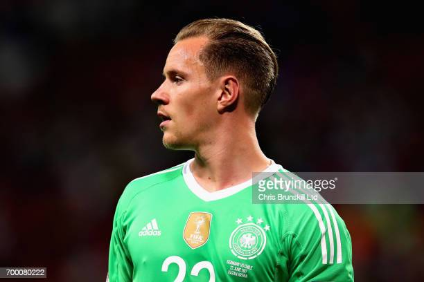 MarcAndre Ter Stegen of Germany in action during the FIFA Confederations Cup Russia 2017 Group B match between Germany and Chile at Kazan Arena on...