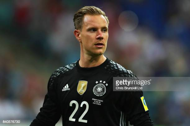 MarcAndre Ter Stegen of Germany looks on during the FIFA Confederations Cup Russia 2017 SemiFinal between Germany and Mexico at Fisht Olympic Stadium...