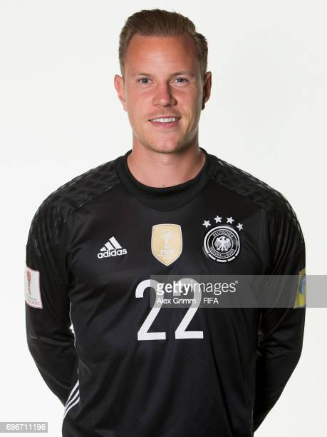 MarcAndre ter Stegen poses for a picture during the Germany team portrait session on June 16 2017 in Sochi Russia