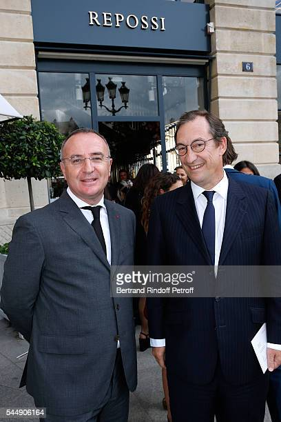 MarcAntoine Jamet and Nicolas Bazire attend the Repossi Vendome Flagship Store Inauguration at Place Vendome on July 4 2016 in Paris France