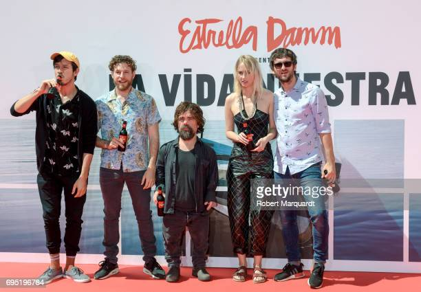 Marcel Borras Alvaro Cervantes Peter Dinklage Ingrid GarciaJonsson and director Raul Arevalo pose during a photocall for their latest work 'La Vida...